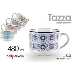 6 PEZZI TAZZA 480 ML LATTE THE CAFFè AMERICANO CAPPUCCINO COLOR ASS SIZ 773990