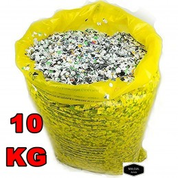 SACCO CORIANDOLI 10 KG FESTE PARTY CARNEVALE MATRIMONIO COLOR TOP QUALITY STAR