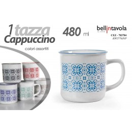 6 PEZZI TAZZA 10 CM 480 ML LATTE THE CAFFè AMERICANO CAPPUCCINO COLOR CEZ 783784